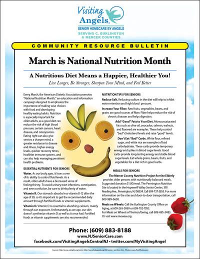 March Nat'l Nutrition Month