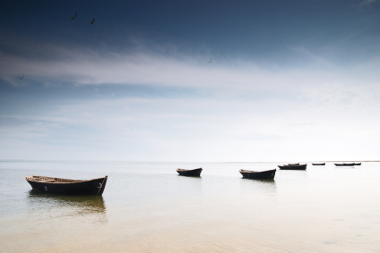 Serene boats on water
