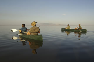 Canoe on Lake Manyara