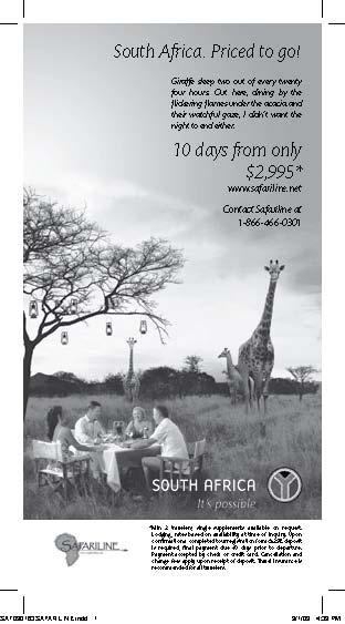 SA Giraffe Dine out