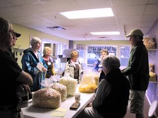 Photo of CSC members visiting Coastal ME Popcorn Co.