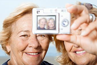 photo of 2 women taking their self-portrait