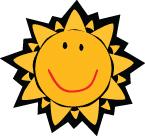 Sun smiley face