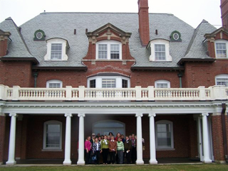photo of Downeast Sr Coll in front of Sea Coast Mission