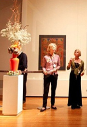 photo of Art in Bloom event at the Boston Museum of Fine Arts