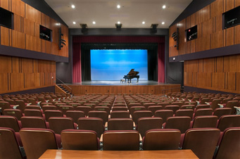 Photo of the performance hall at the Leura Hill Eastman Performing Arts Center in Fryeburg, ME