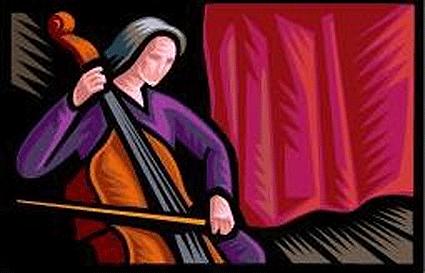 violinist clip art image