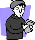 illustration of beatnik poet