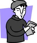 illustration of beatnik poet
