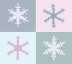 Illustration of snowflake quilt block