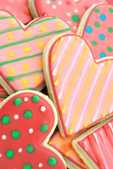 Photo of heart-shaped cookies