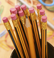 Photo of pencils in a yellow cup