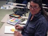 Student in UMA Sr College art class