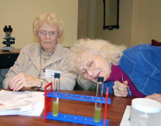 2 women in science class