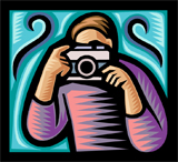 illustration of photographer