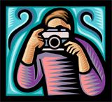illustration of photographer