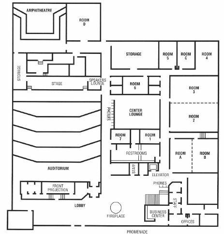 Williamsburg Hotel & Conference Center 1st Floor Plan