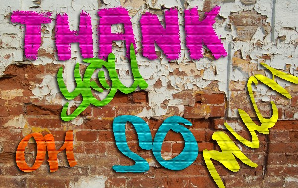 thank you grafitti