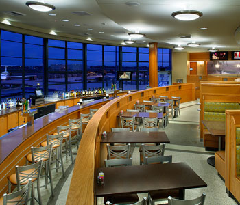 The Three Tiered Curving Restaurant Embos Spirit Of 1940s Streamlined Moderne Design Aesthetic Which Designated Long Beach Airport A Cultural