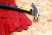 hammer and gloves