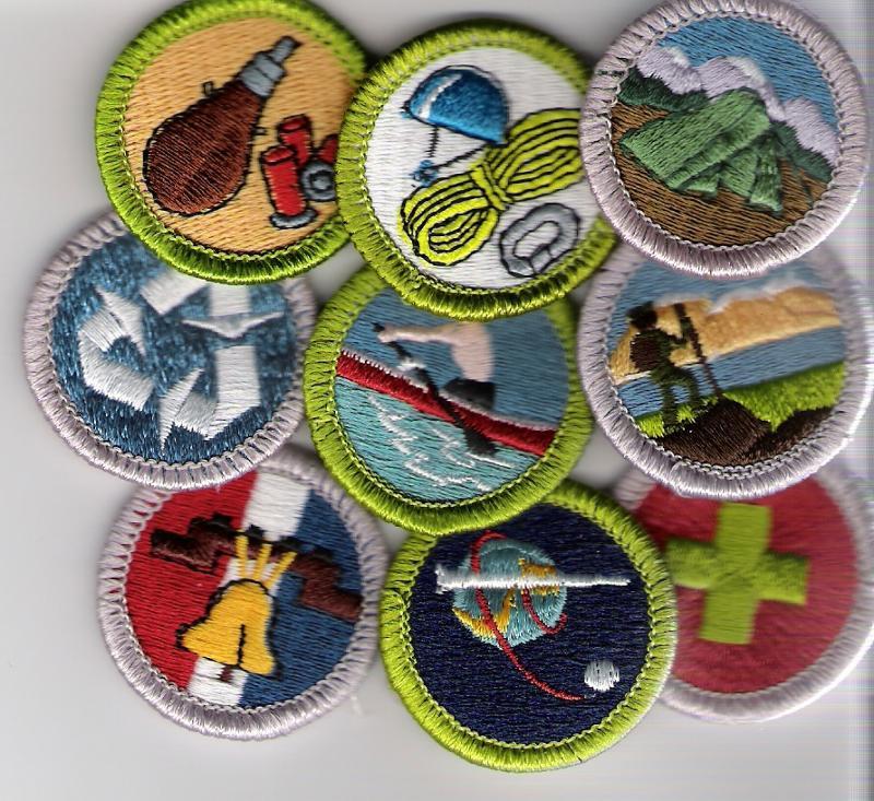 merit badge collage