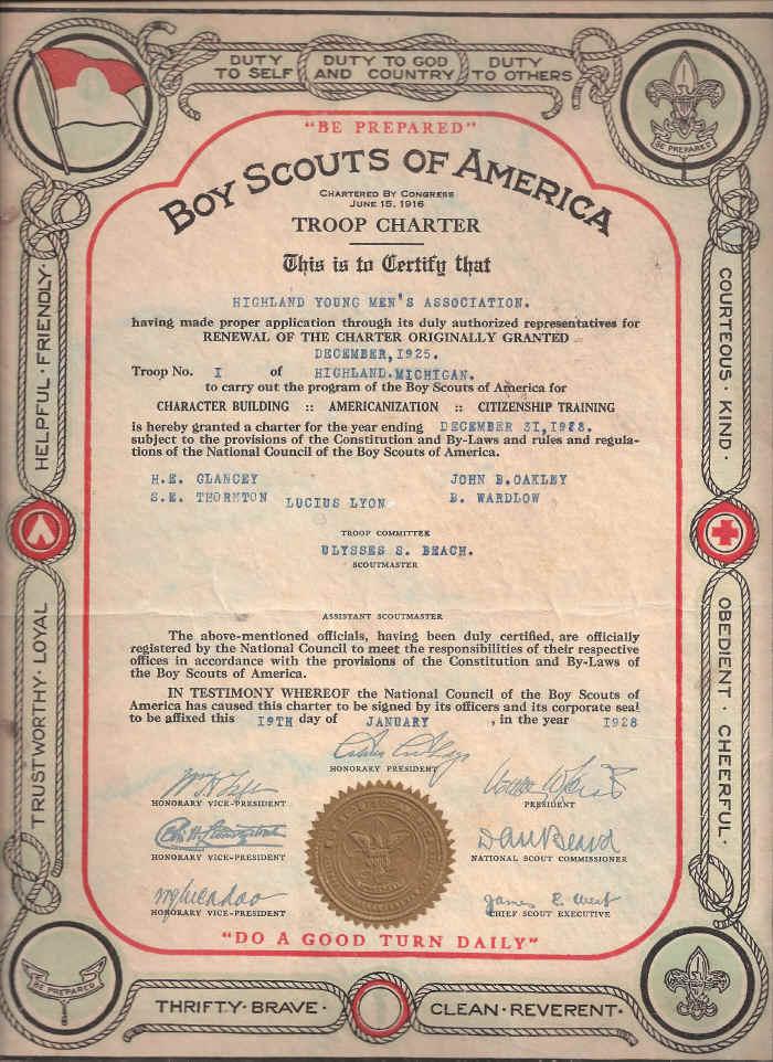 Old BSA Charter
