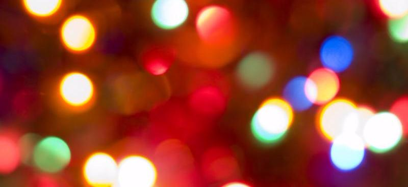 merry colorful magic christmas lights blurry closeup
