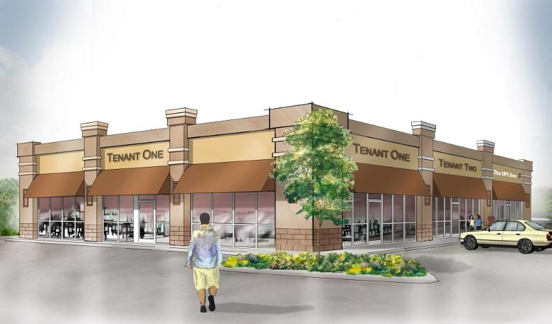 Artist's Rendering of Shoppes at Beauvoir