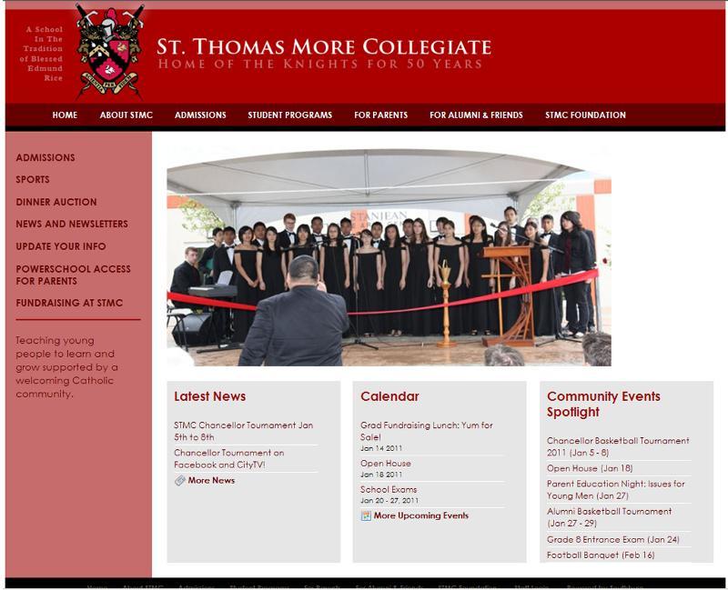 STMC Web Site Snapshot