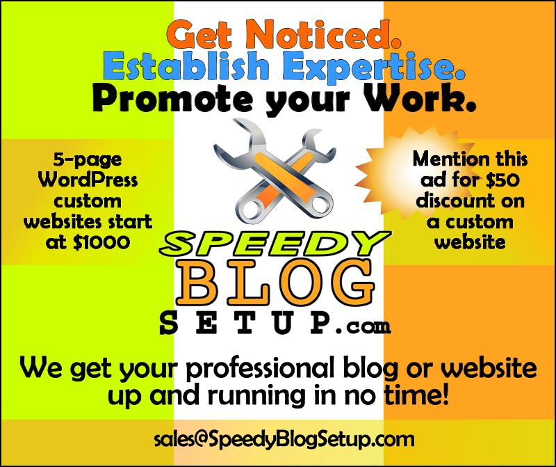 speedy fast blog or website setup