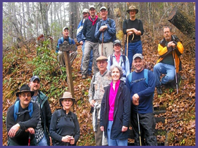 Holston hikers on Asbury Trail 12-13-10