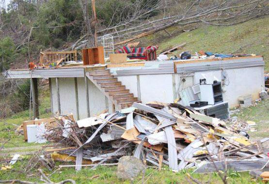 tornado damage in harrison 3-21-12