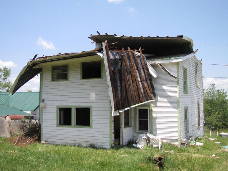 Tornado damaged house in Pulaski 11-2-11
