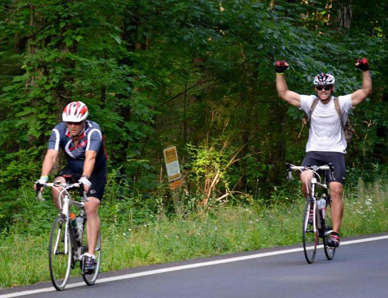 Harrison & Arnold on bikes 6-8-13