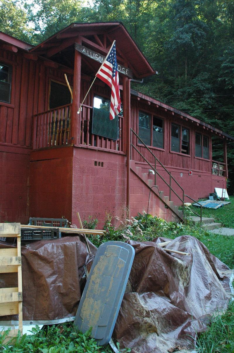 Flood-damaged Allison Lodge 9-26-13