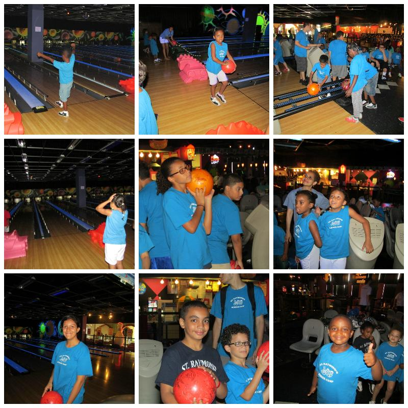 Summer Camp Bowling Collage
