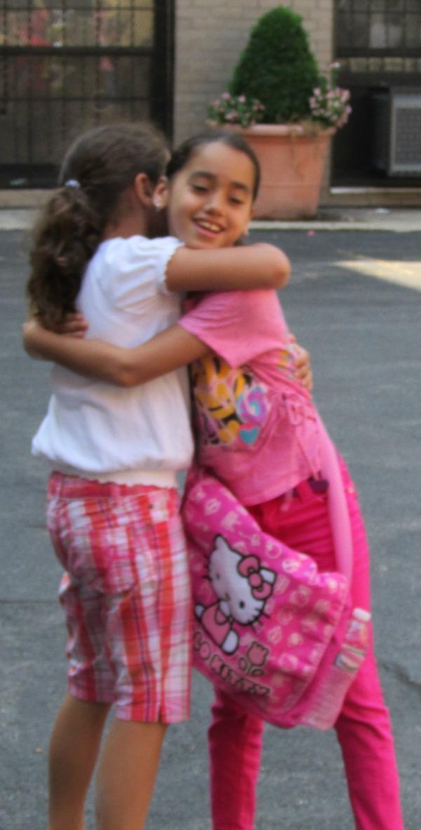 Summer Camp Friends Hugging