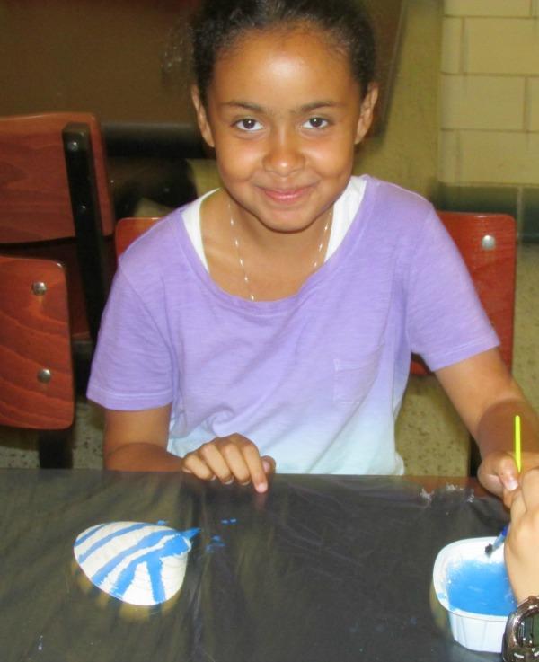 Summer Camp Art Girl Smiling