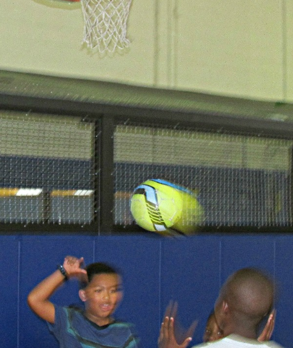 Summer Camp Basketball in Motion