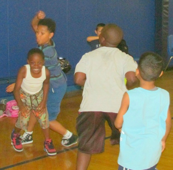 Summer Camp Kids Playing in the Gym