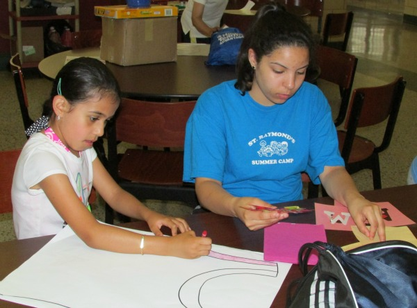 Summer Camp Art with Counselor