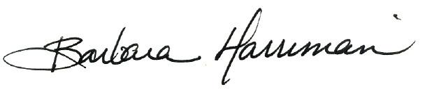 Barbara's signature