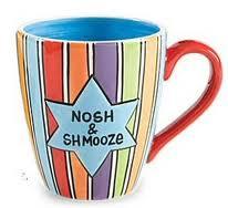 nosh and shmooze coffee mug