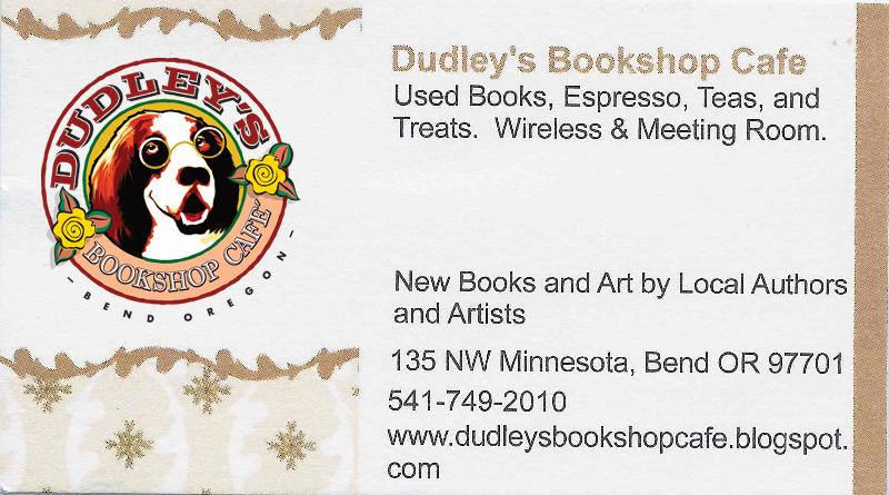 Dudley's Bookshop Cafe business card