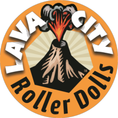 lava city roller dolls logo