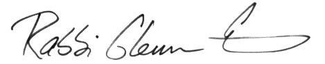 Rabbi's signature jpeg