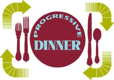 progressive dinner graphic