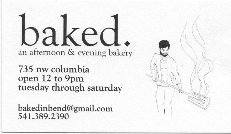 New Baked business card