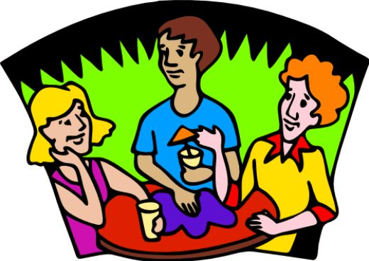 ladies around table clip art