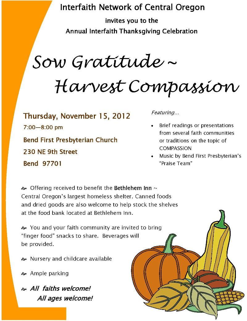 INCO Thanksgiving flyer